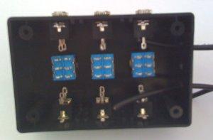 caja antes de soldar los cables
